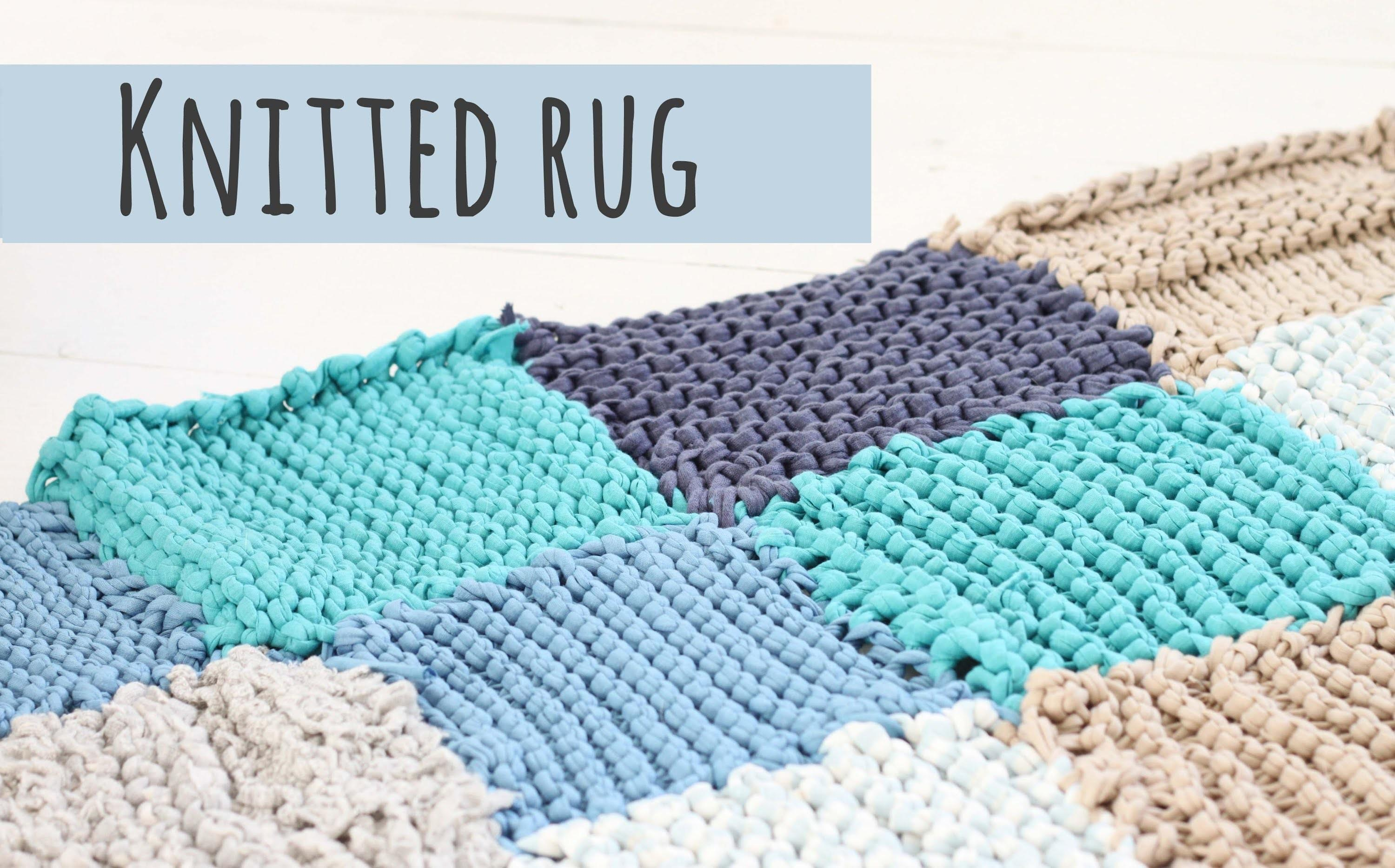 Knitted Rug Tutorial Make Your Own