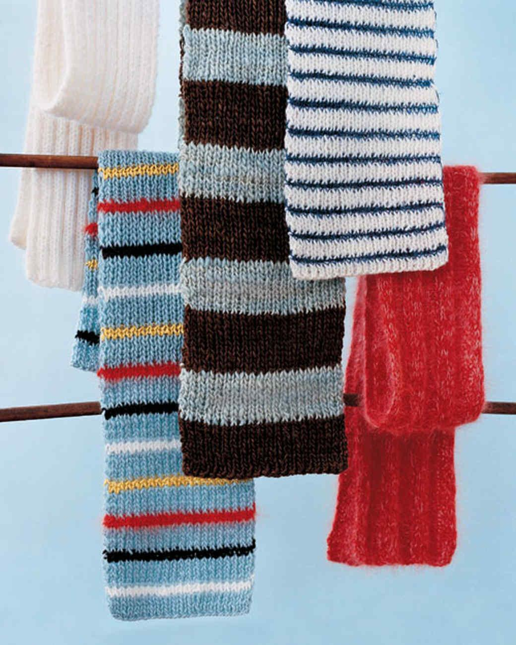 Knitted Scarves Feel Cozy Comfortable Martha