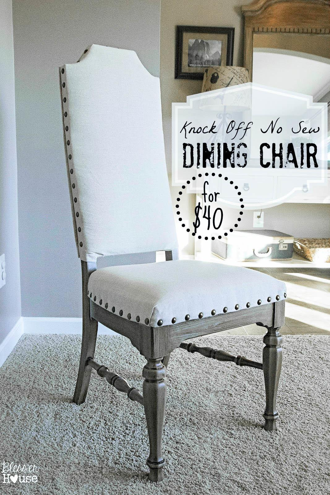 Knock Sew Dining Chairs Bless House