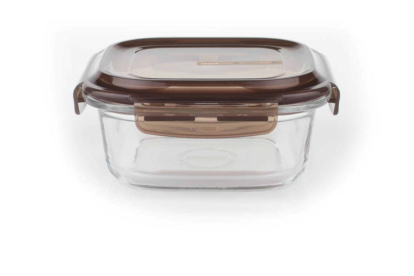 Komax Look Square Sealable Glass Food Storage Container