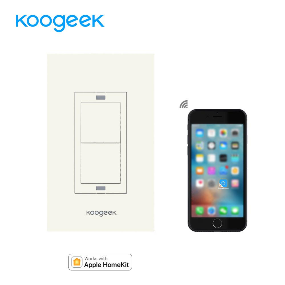 Koogeek Smart Home Wifi Light Switch Wireless Remote