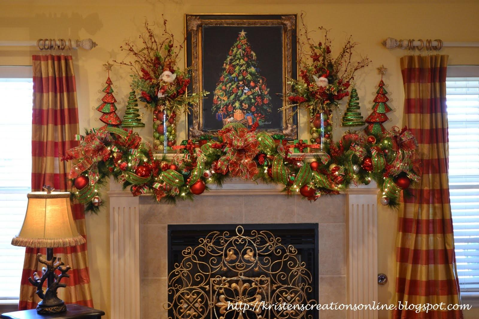 Kristen Creations Christmas Mantle