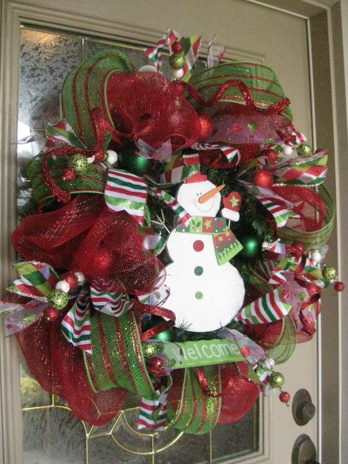 Kristen Creations Christmas Mesh Wreath Tutorial