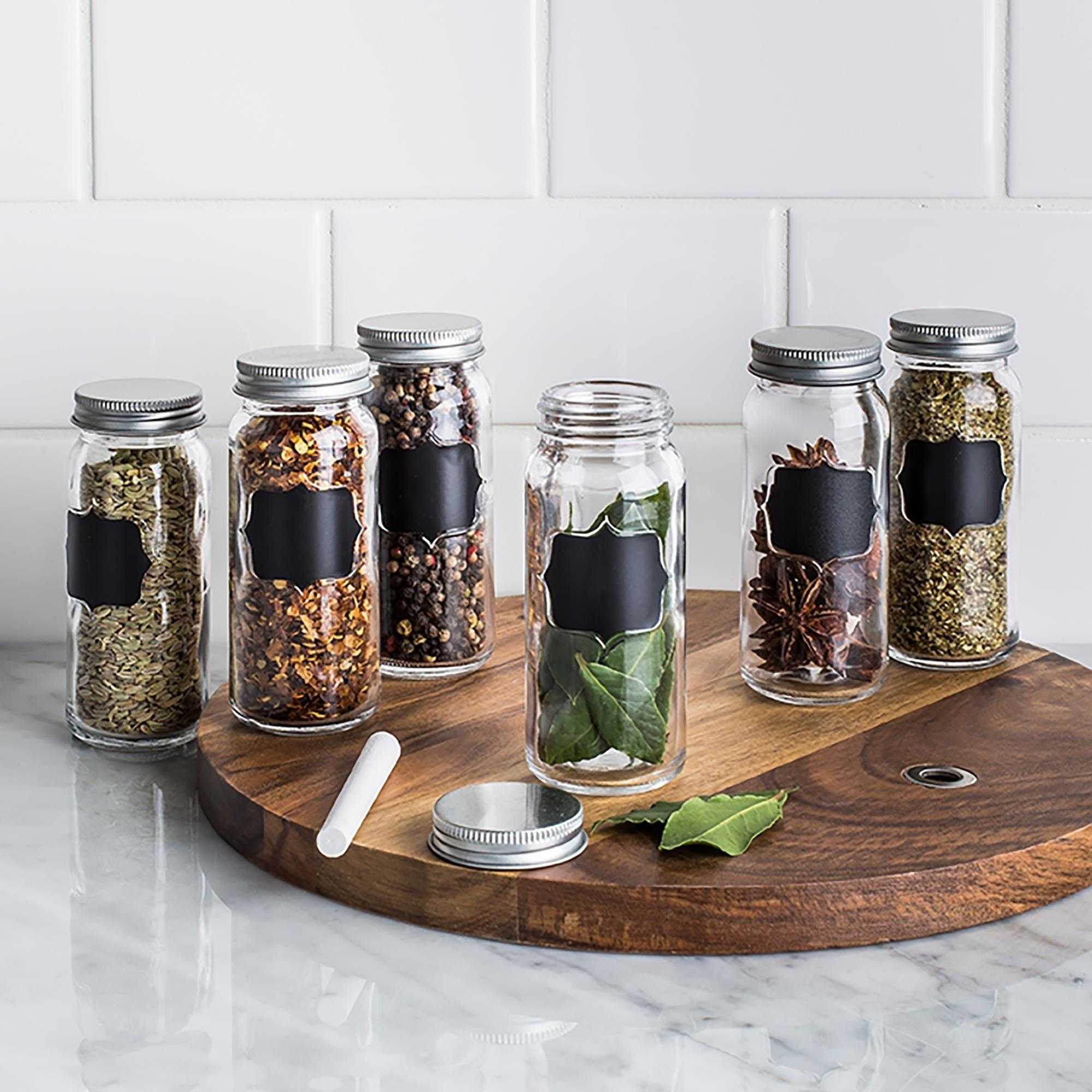 Ksp Chalkboard Glass Spice Jar Set Clear