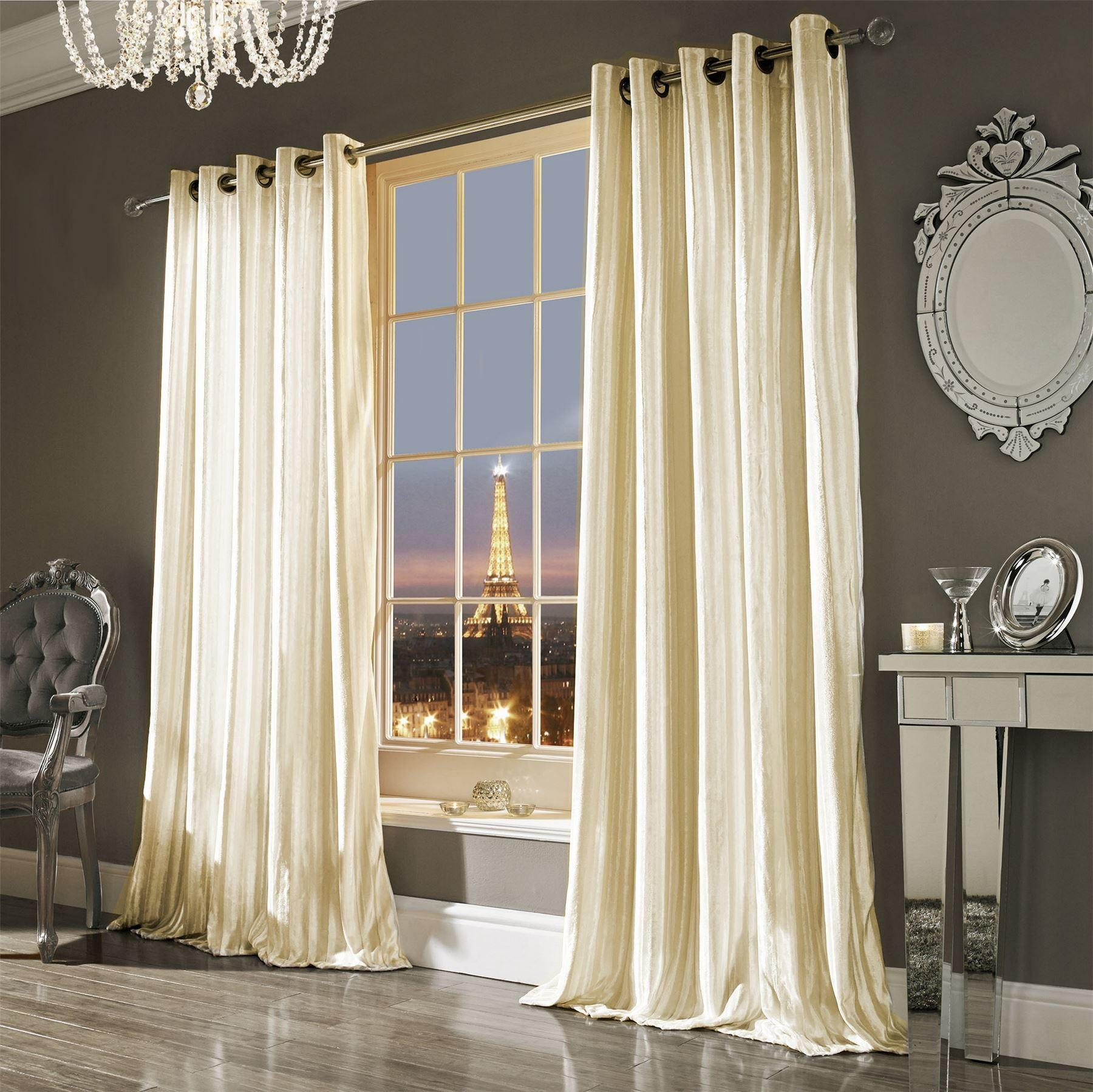 Kylie Minogue Curtains Ready Made Lined Eyelet Ring Top