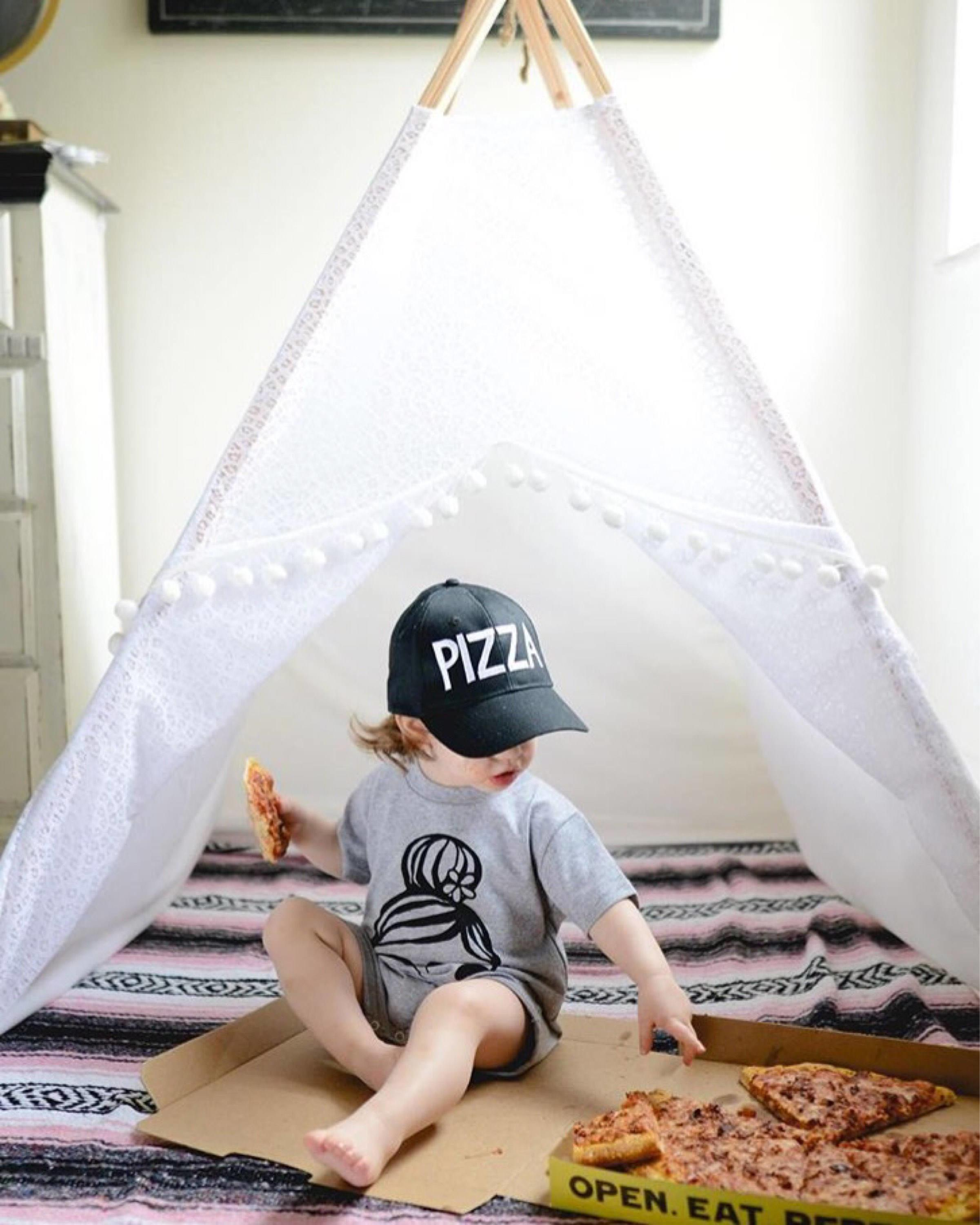Lace Teepee Kids Play Tent Fort