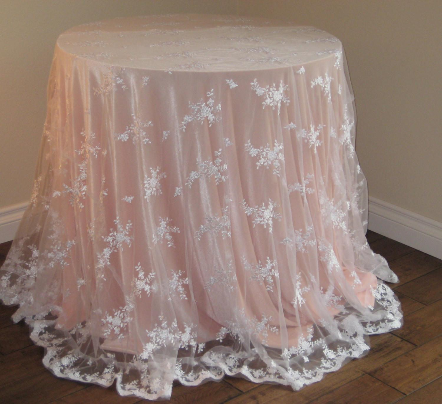 Lace Wedding Tablecloth White Moderncelebrations