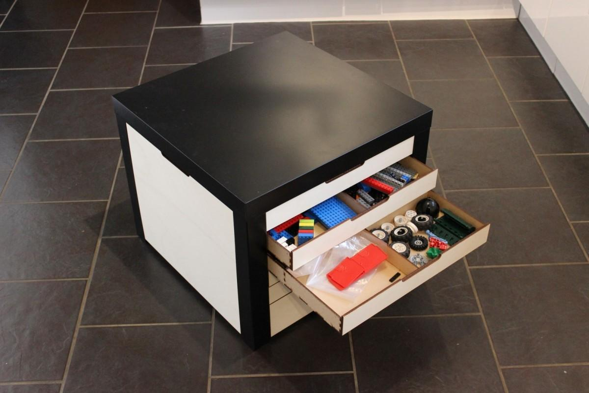 Lack Table Lego Storage Drawers Hackers