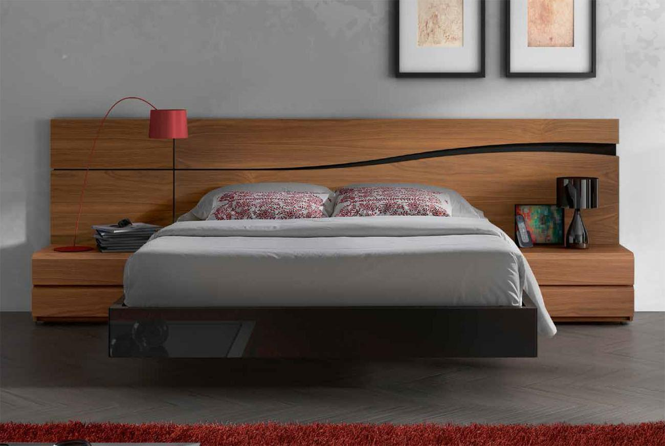 Lacquered Made Spain Wood High End Platform Bed