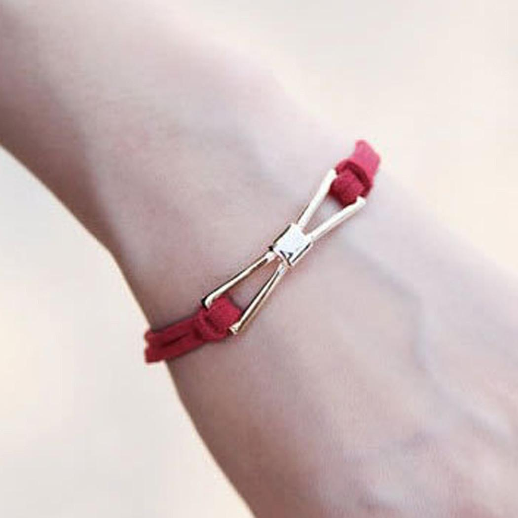 Lady Handmade Charm Diy Infinity Beads Leather Cord
