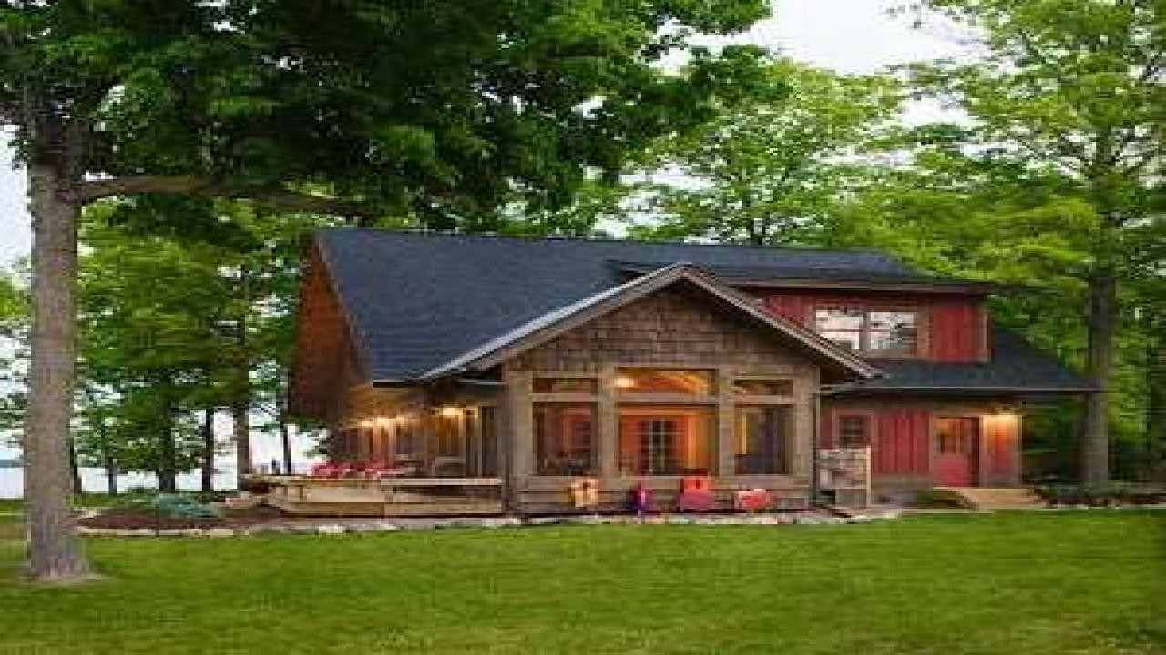 Lakefront Vacation Home Plans Deco