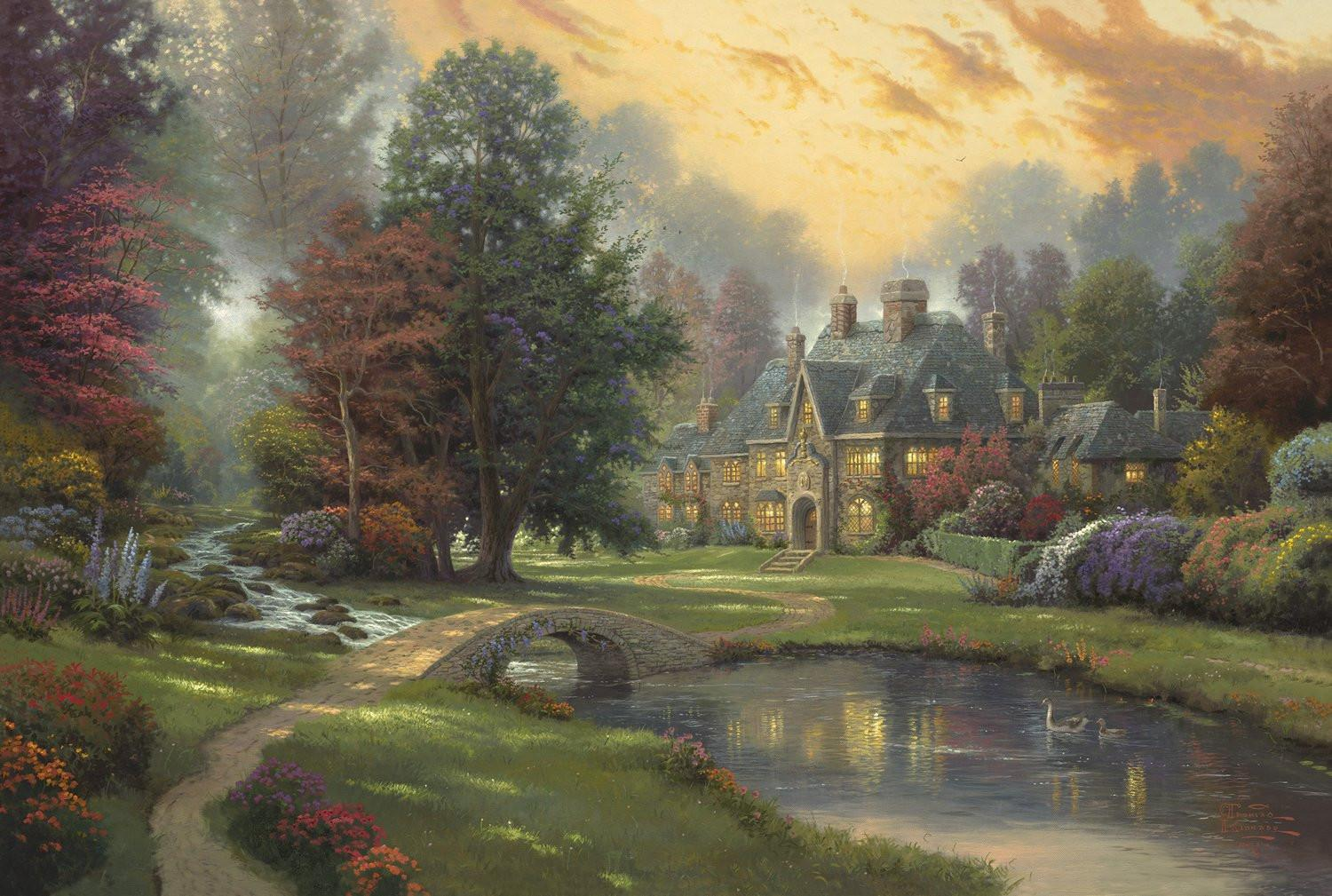Lakeside Manor Thomas Kinkade