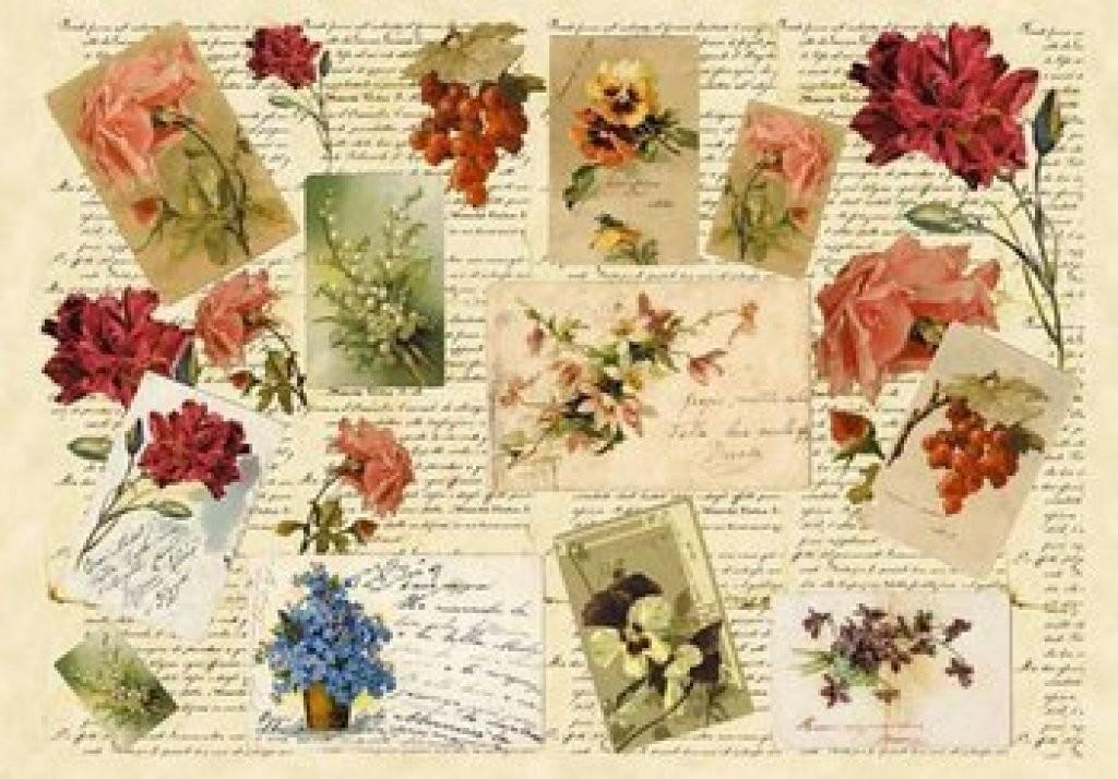 Laminas Decoupage Antiguas Cartas Escrituras