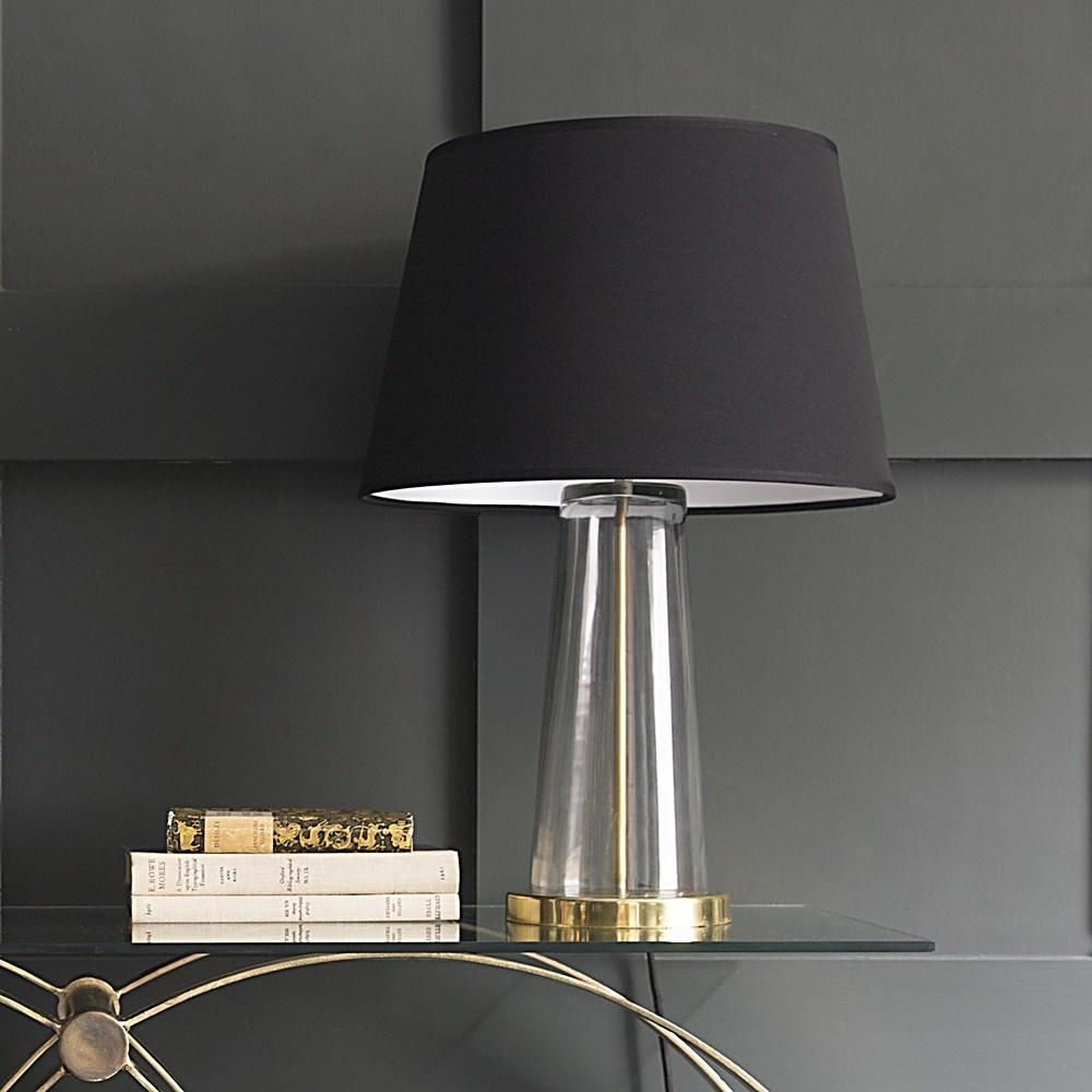 Lamps Glass Brass Table Decorating Idea