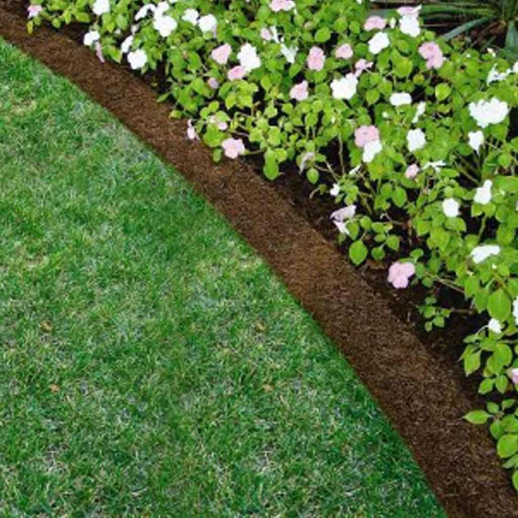 Landscape Border Recycled Rubber Mulch
