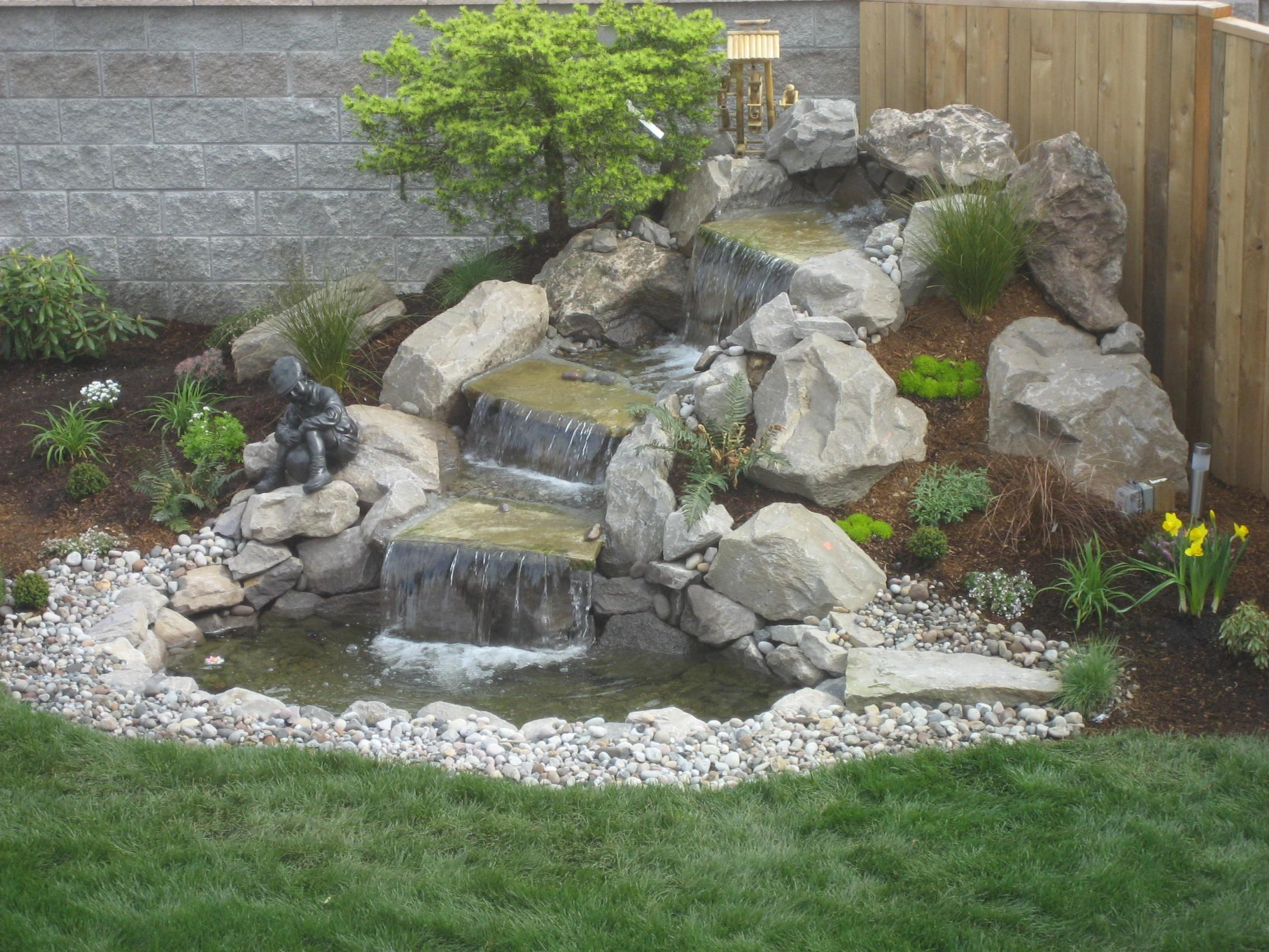 Landscape Design Advice Creating Natural Waterfall