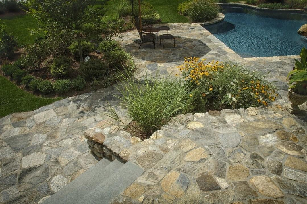 Landscape Edging Ideas Natural Stone Backyard Landscaping