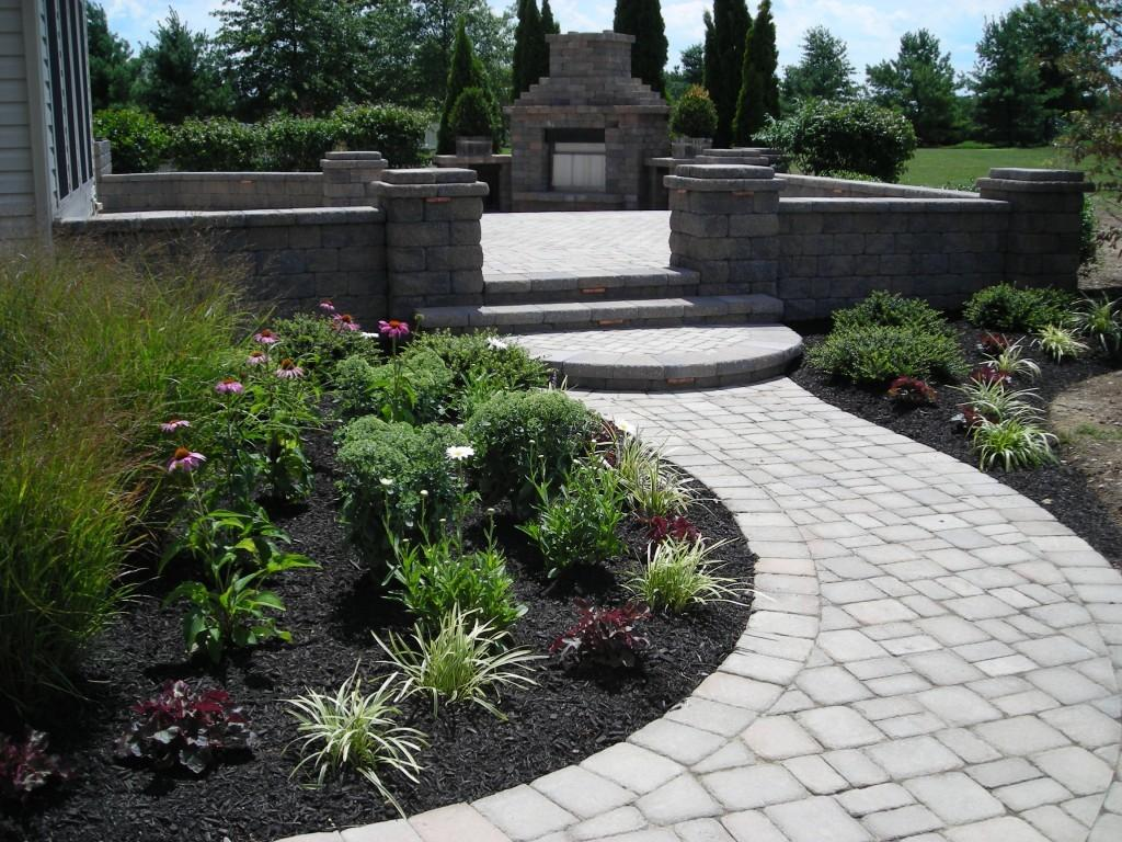 Landscape Landscaping Ideas Around Patio