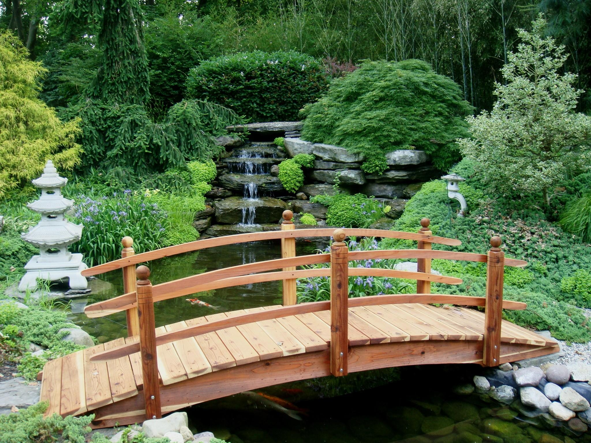 Landscaping Bridges Custom Sizes Made Redwood