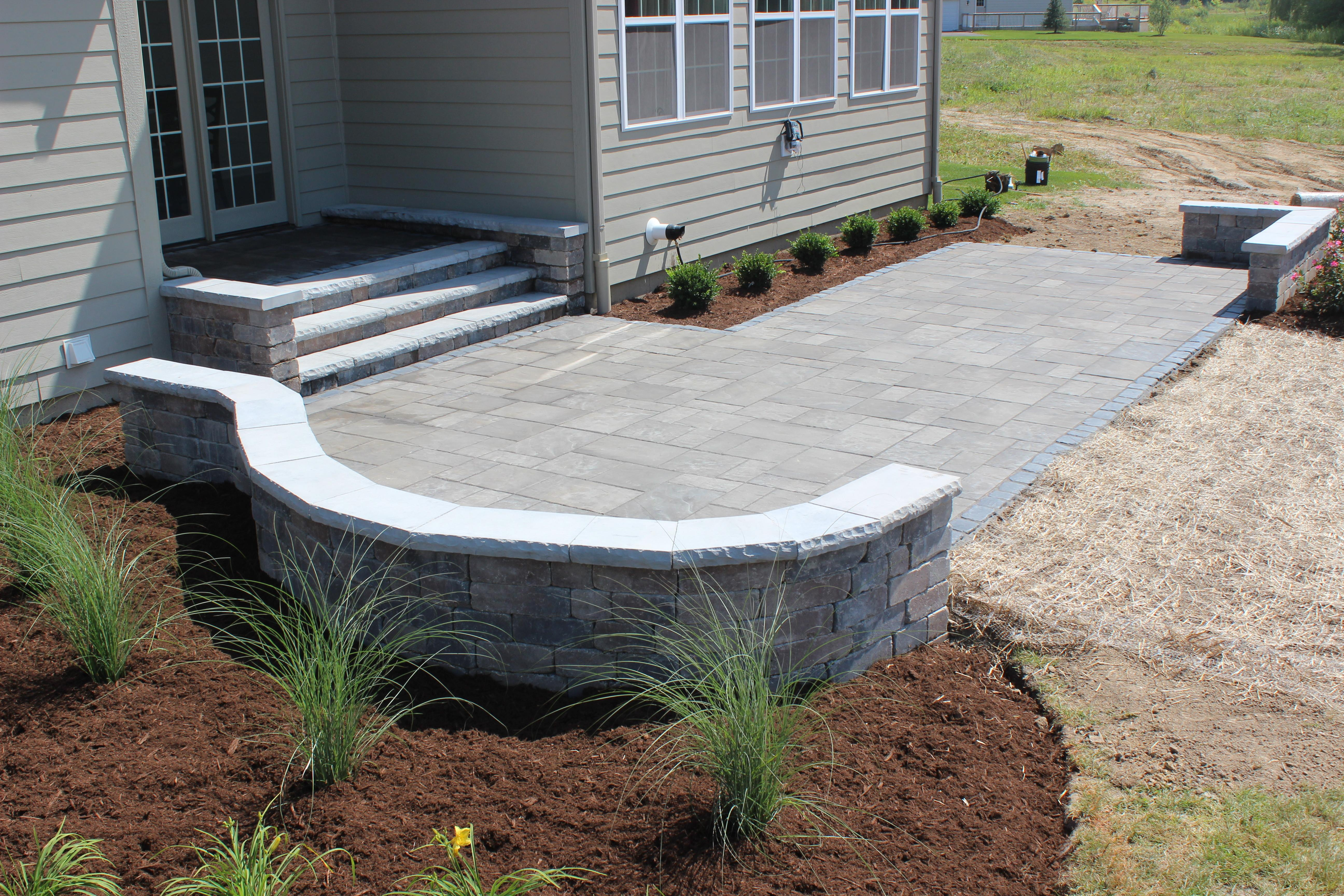 Landscaping Paver Patio Installation Bright Green