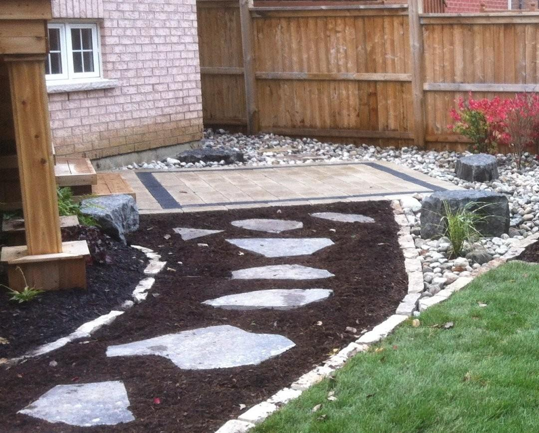 Landscaping Stone Garden Designs Using Gravel Rock