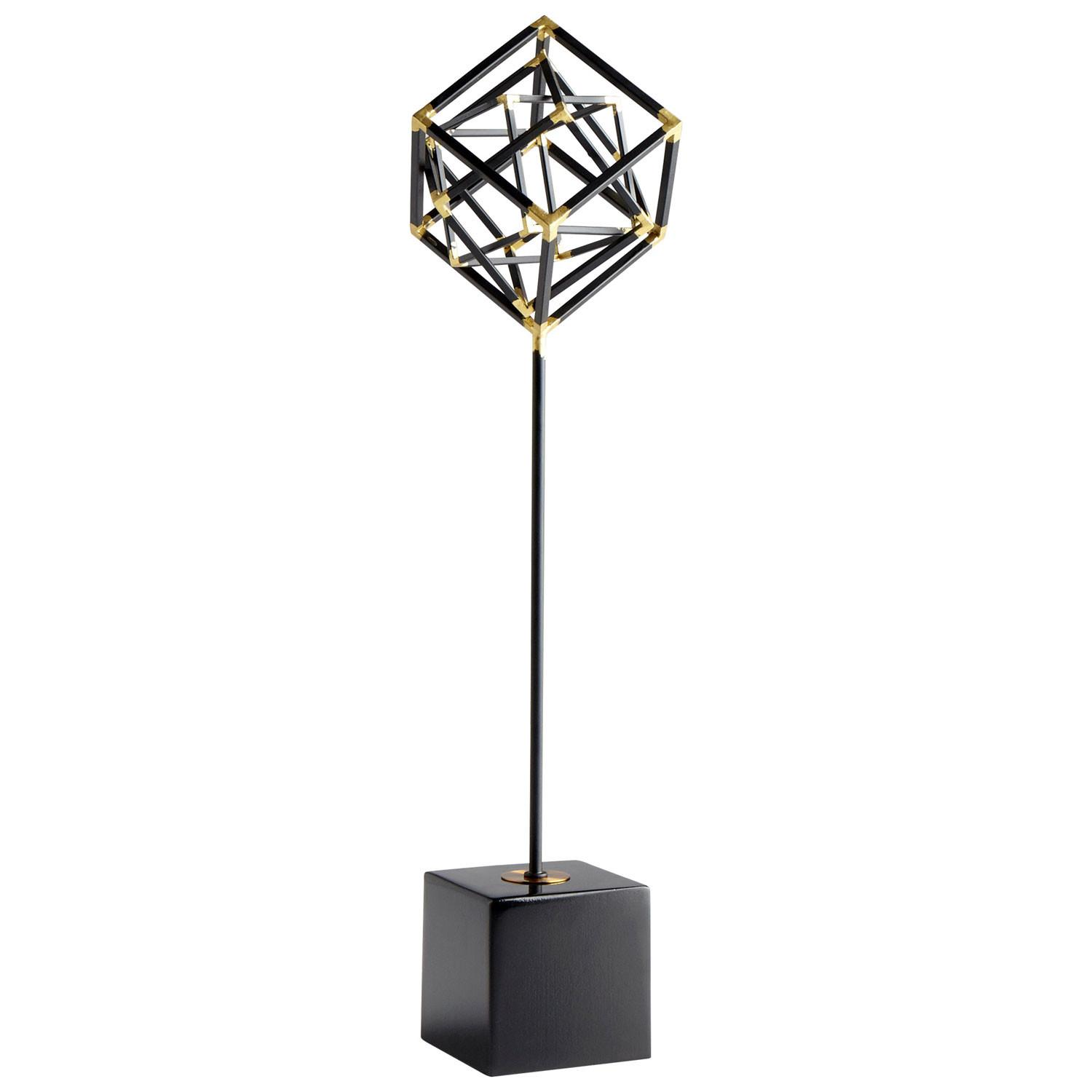 Large All Right Angles Sculpture Cyan Design