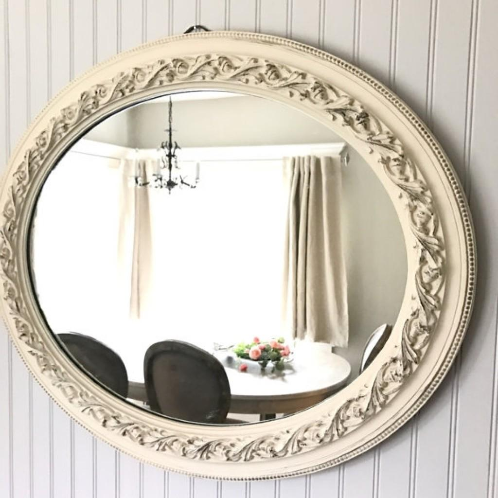 Large Antique Mirror Shab Chic Distressed