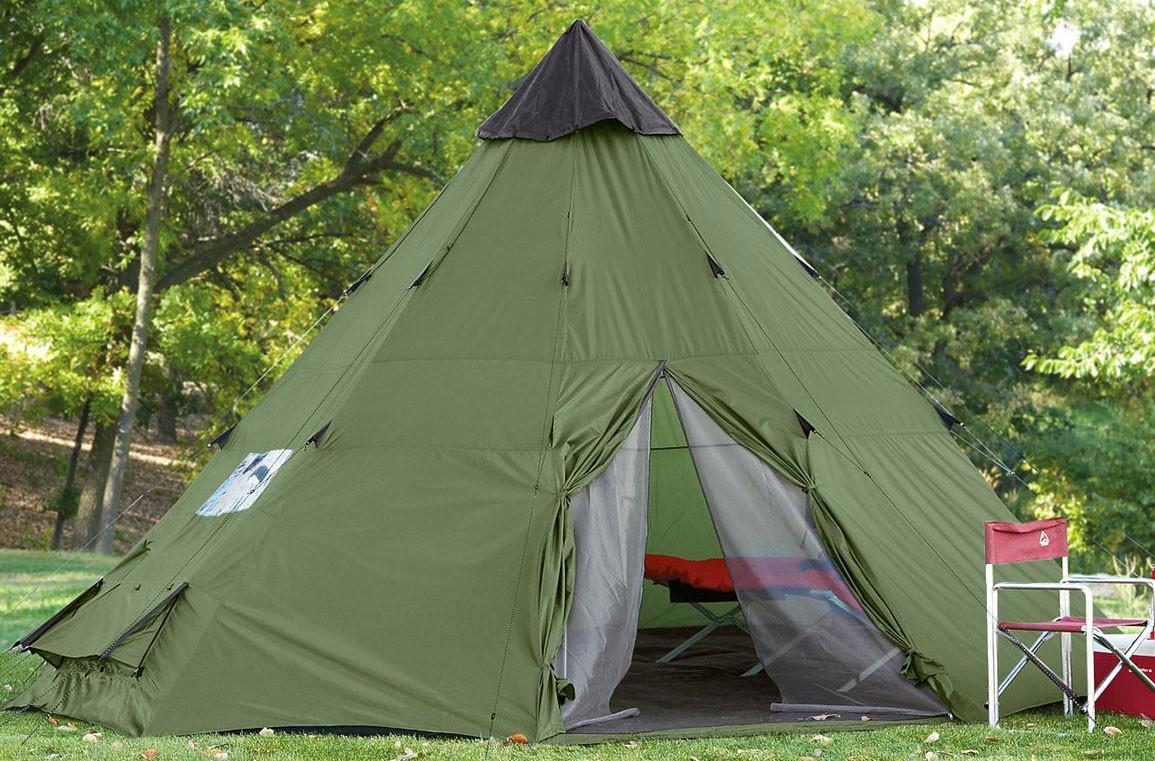 Large Camping Tent Person Family Teepee Outdoor Shelter
