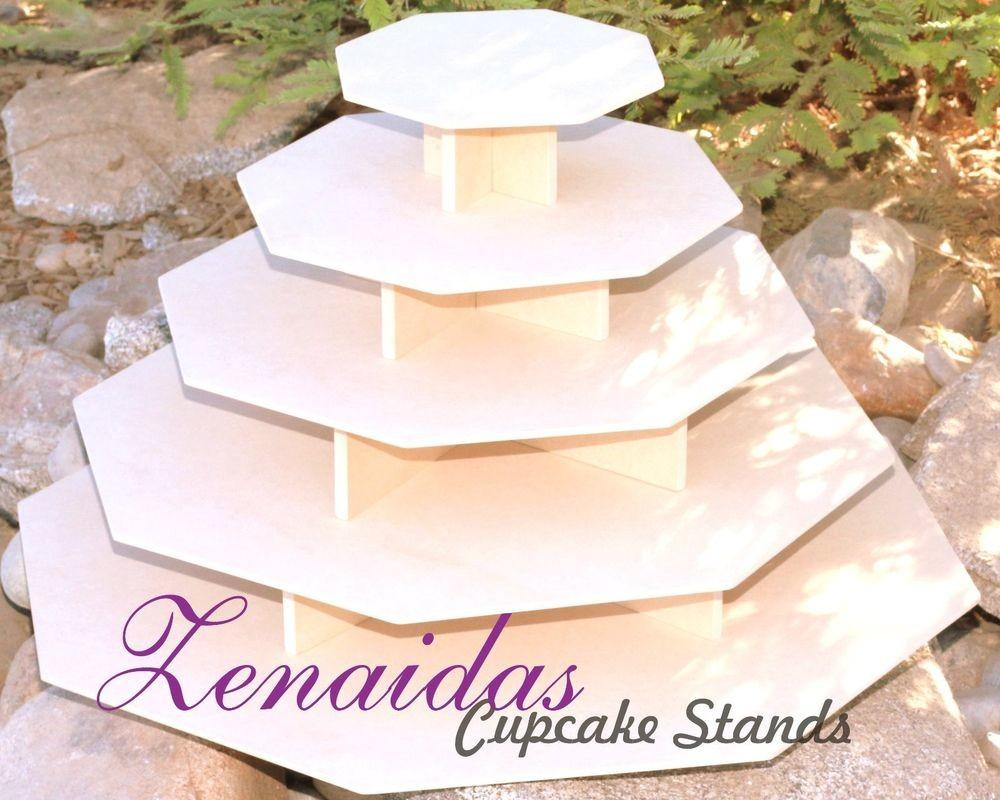 Large Cupcake Stand Octagon Tier Diy Project Mdf Wood