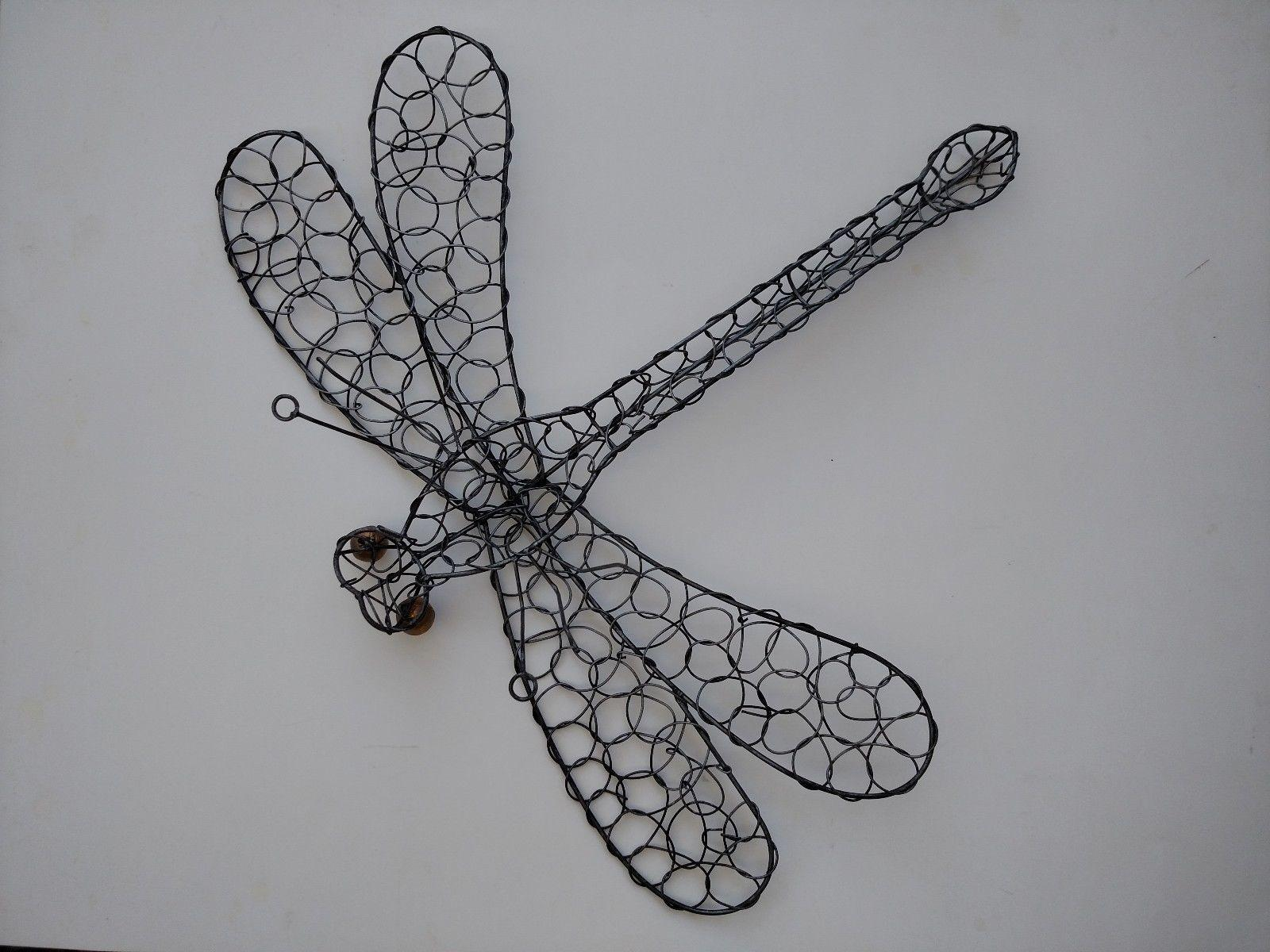 Large Dragonfly Wire Sculpture Wall Decor Worth
