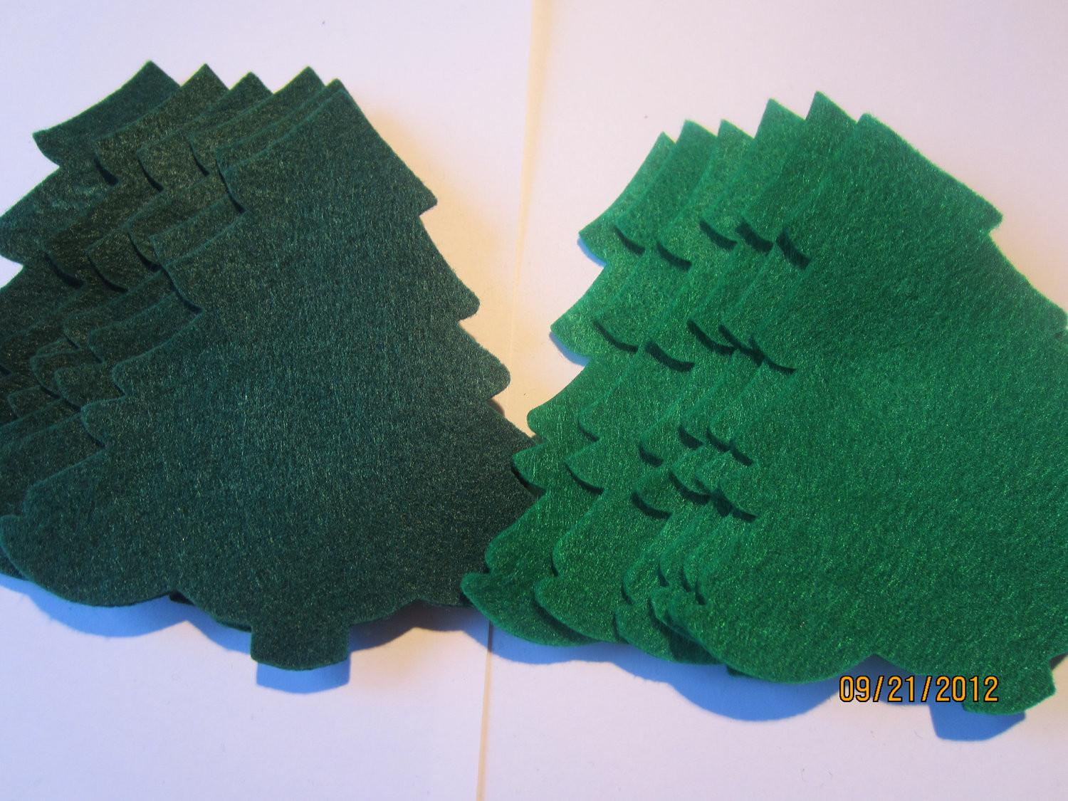 Large Evergreen Felt Trees Die Cuts Diy Christmas