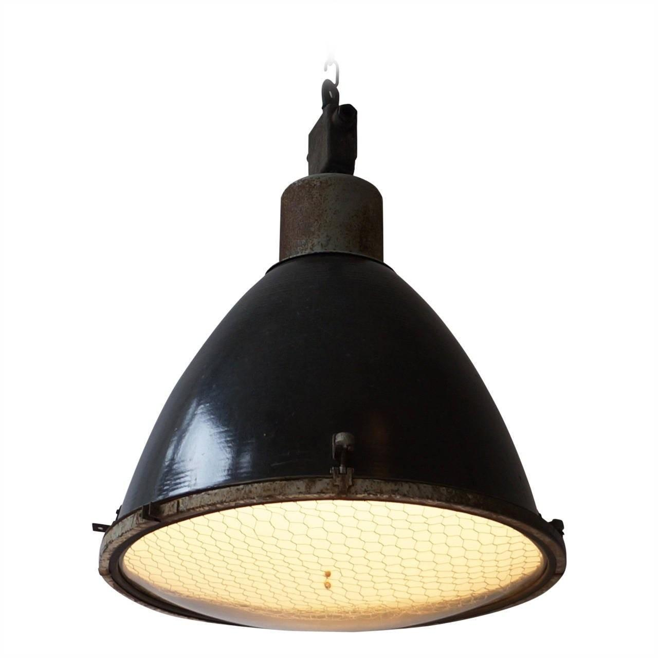 Large French Industrial Pendant Light 1stdibs