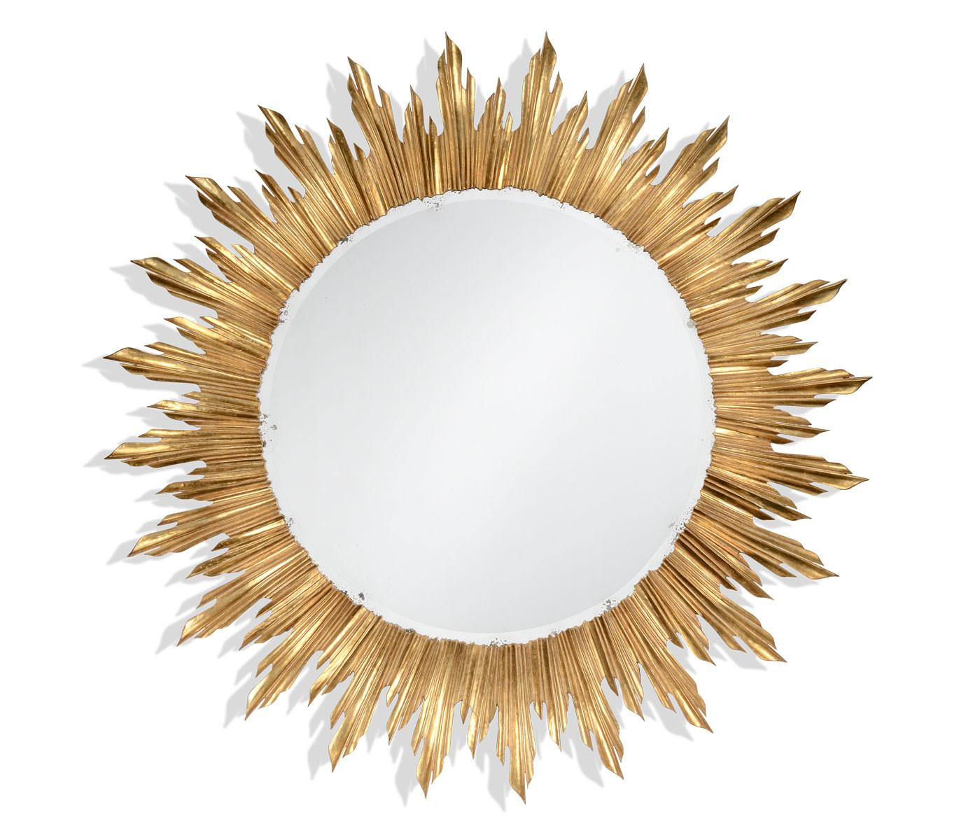 Large Gilded Sunburst Mirror