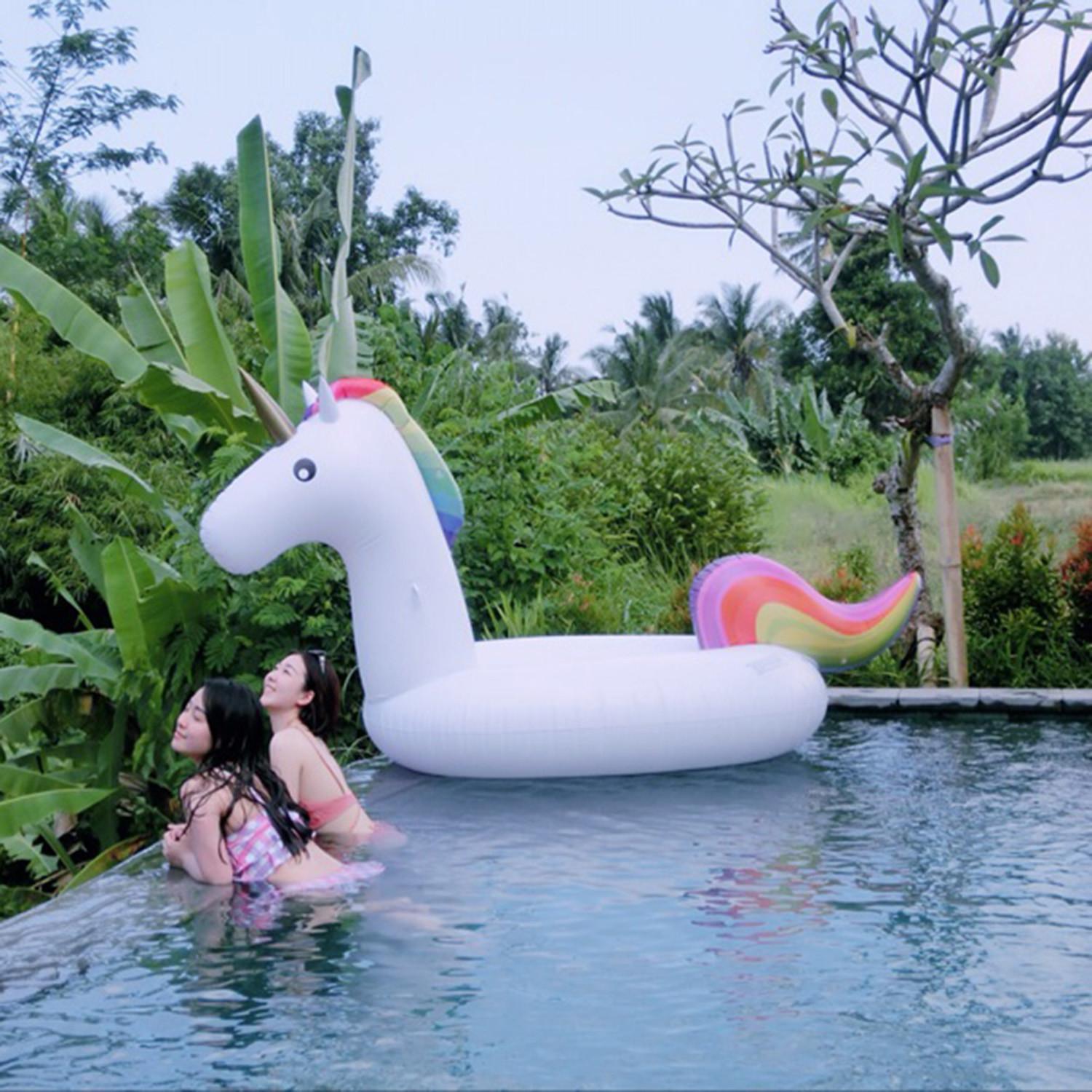 Large Inflatable Unicorn Pool Floats Swimming Lounge