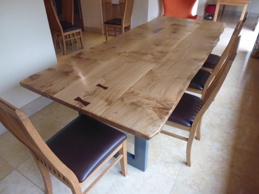 Large Live Edge Dining Table Quercus Furniture