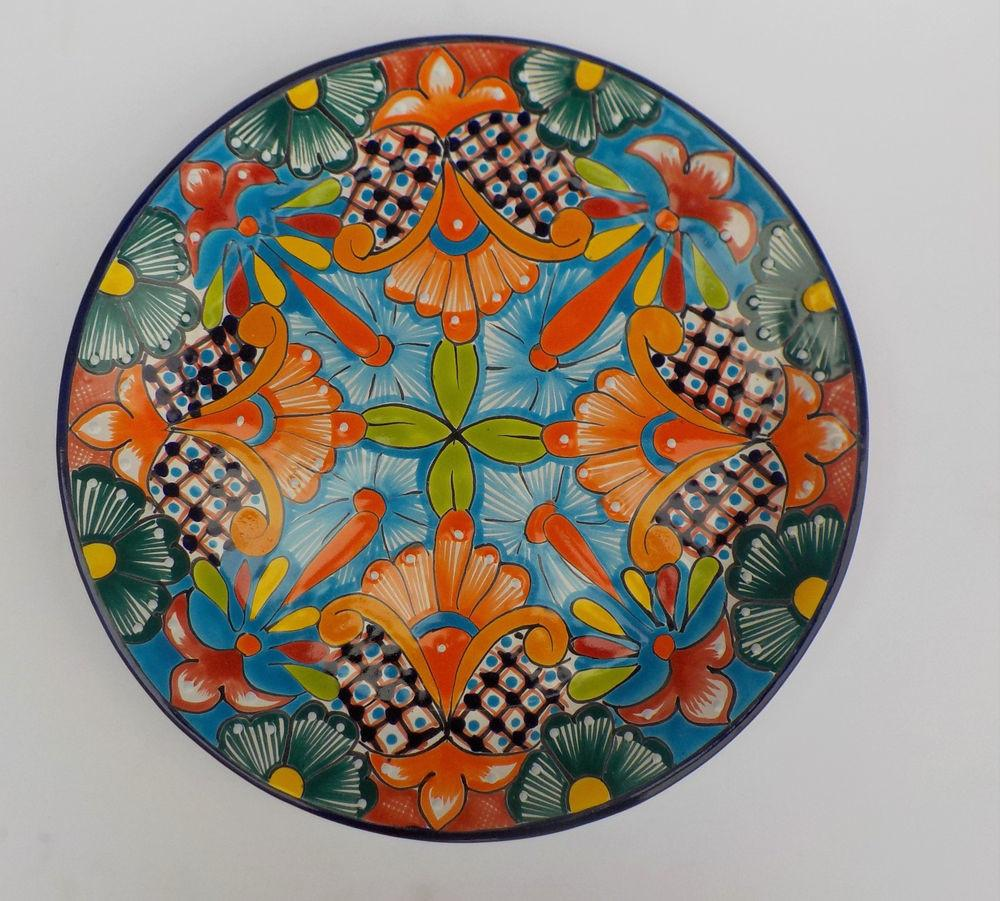 Large Mexican Pottery Decorative Wall Decor Plate