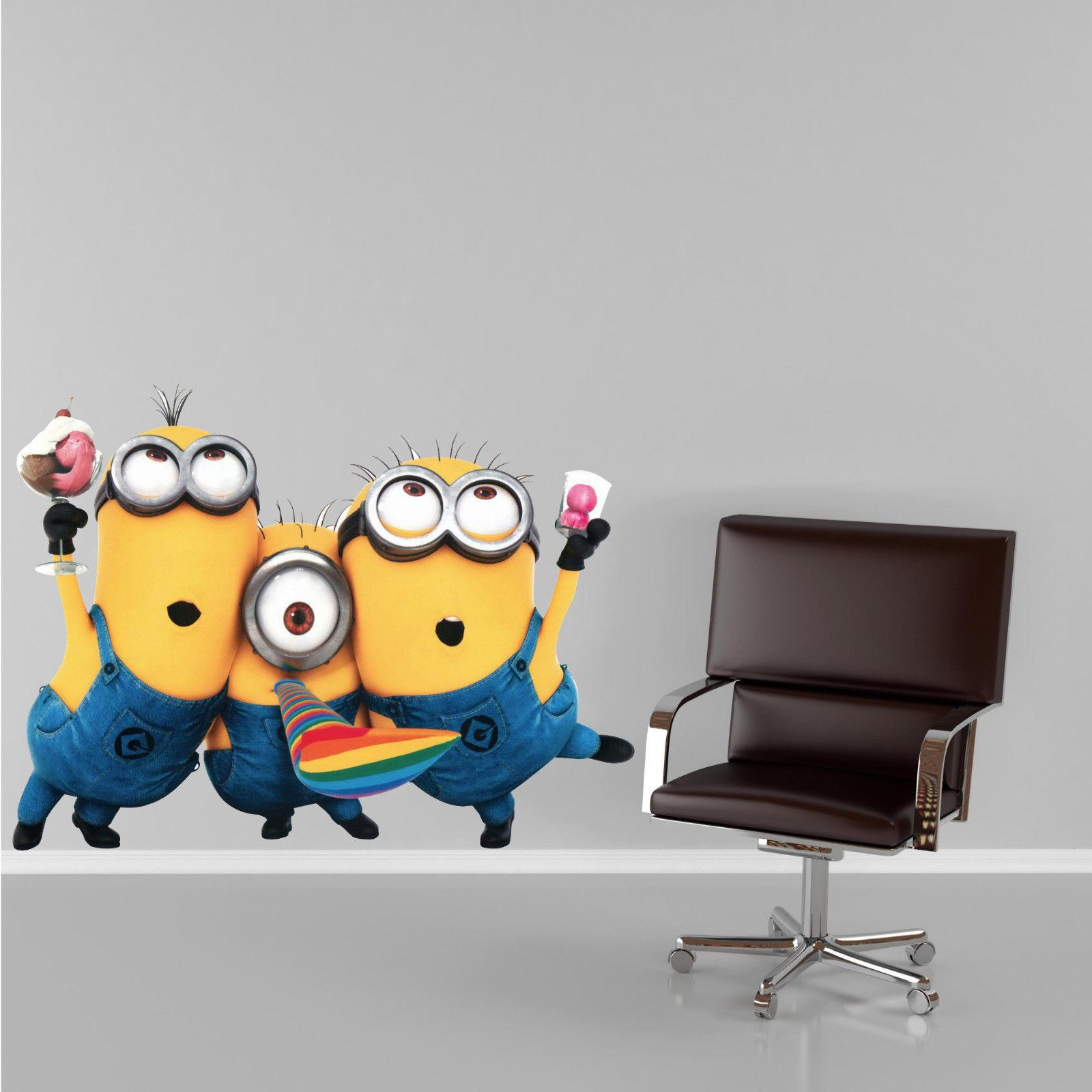 Large Minions Despicable Removable Wall Stickers