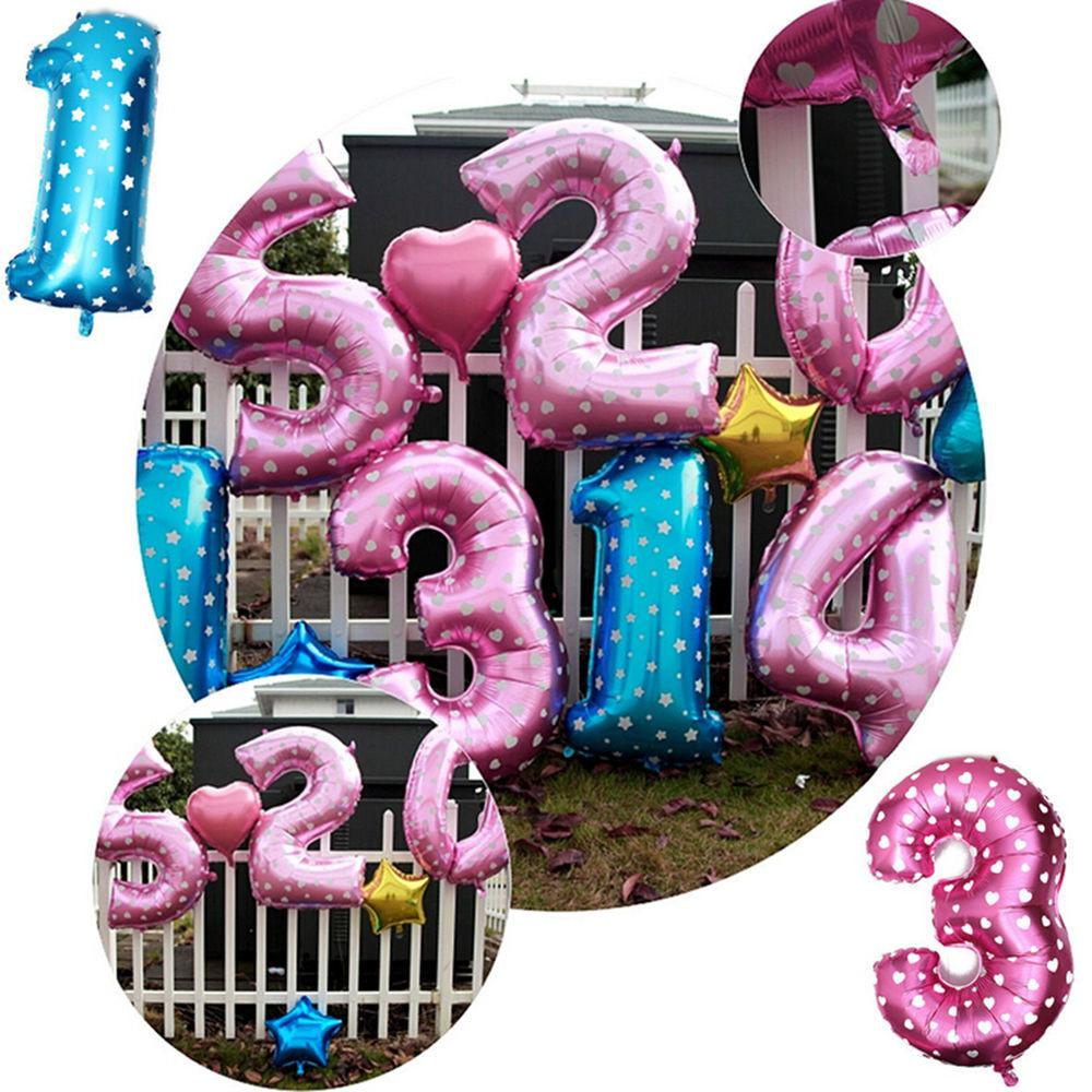 Large Number Foil Giant Birthday Wedding