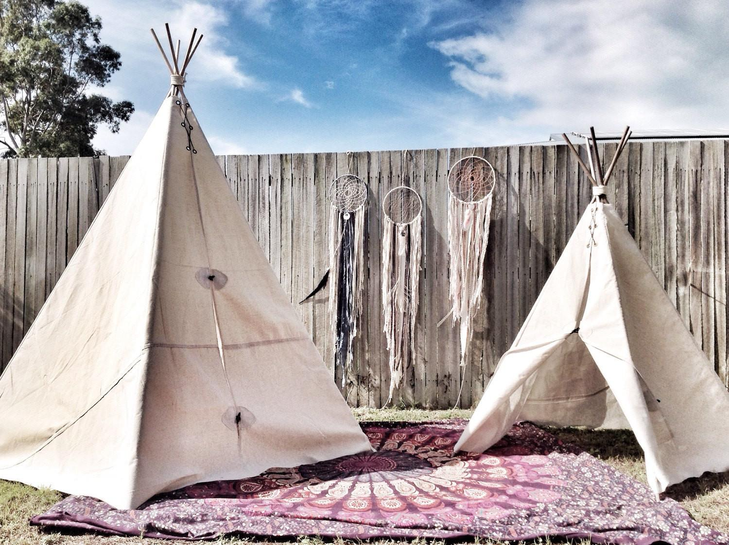 Large Outdoor Canvas Teepee Tent High Wide