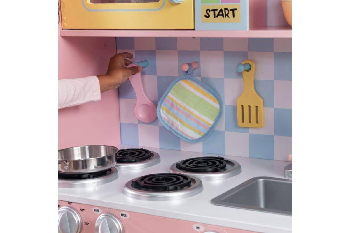 Large Pastel Kitchen Play Hob Oven