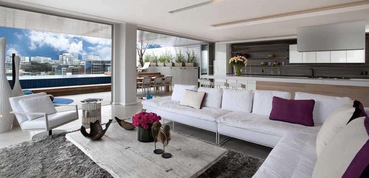 Large Penthouse Living Room Interior Wish Everyone