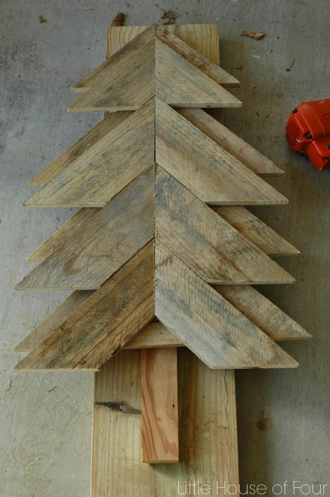 Large Rustic Pallet Christmas Tree Little House Four