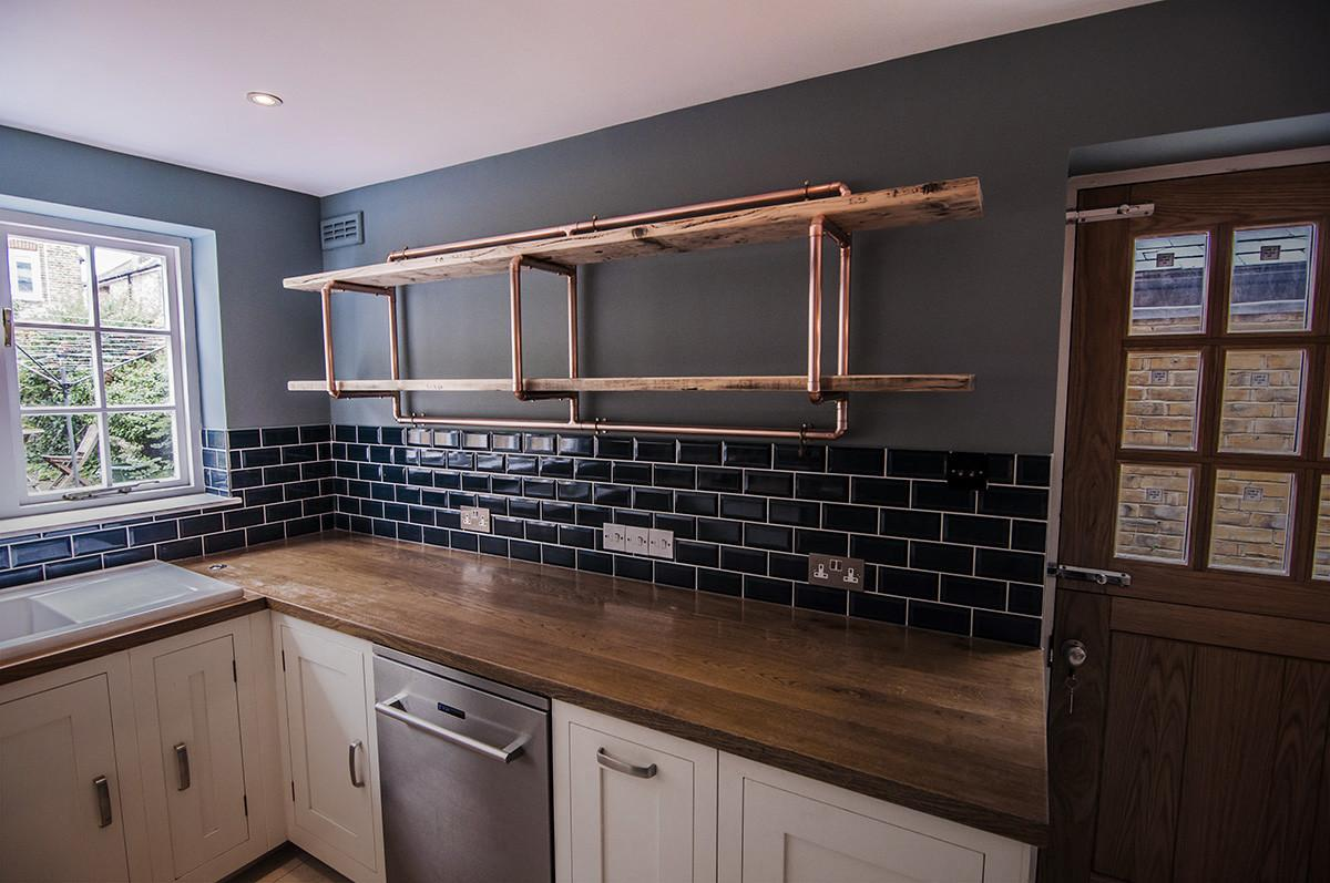 Large Shelf 28mm Copper Pipe Unit Wall Mounted
