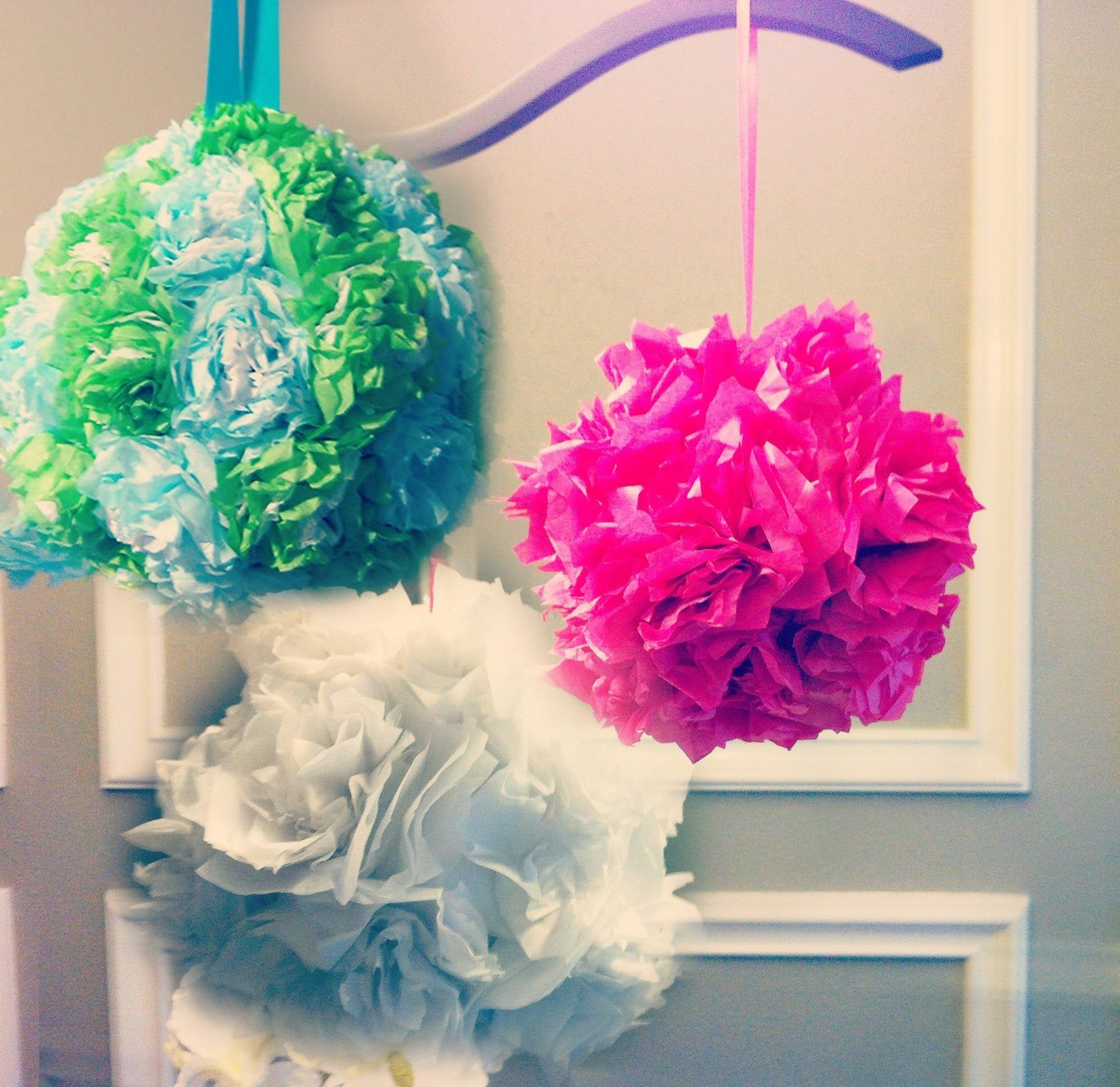 Large Tissue Paper Balls Diy Crafts