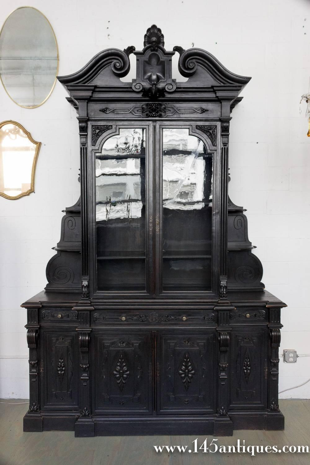 Large Unusual French 19th Century Bookcase Sale
