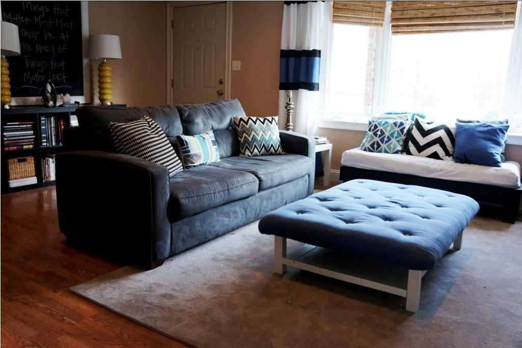 Large Upholstered Ottoman Coffee Table