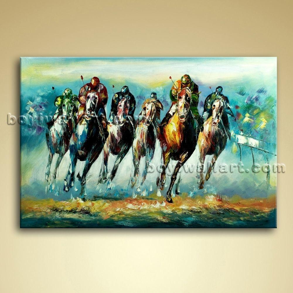 Large Wall Art Famous Horse Racing Abstract Painting