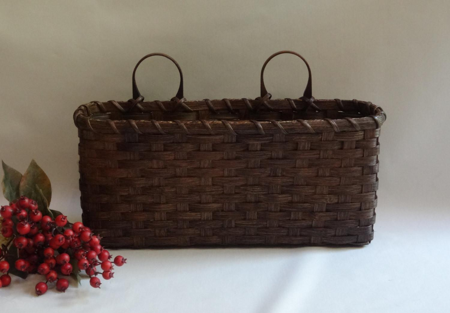Large Wall Basket Decor Handwoven