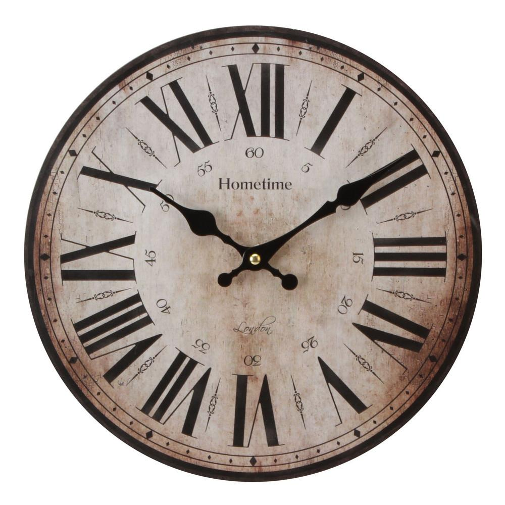 Large Wall Clock Vintage Style Antique Shabby Chic