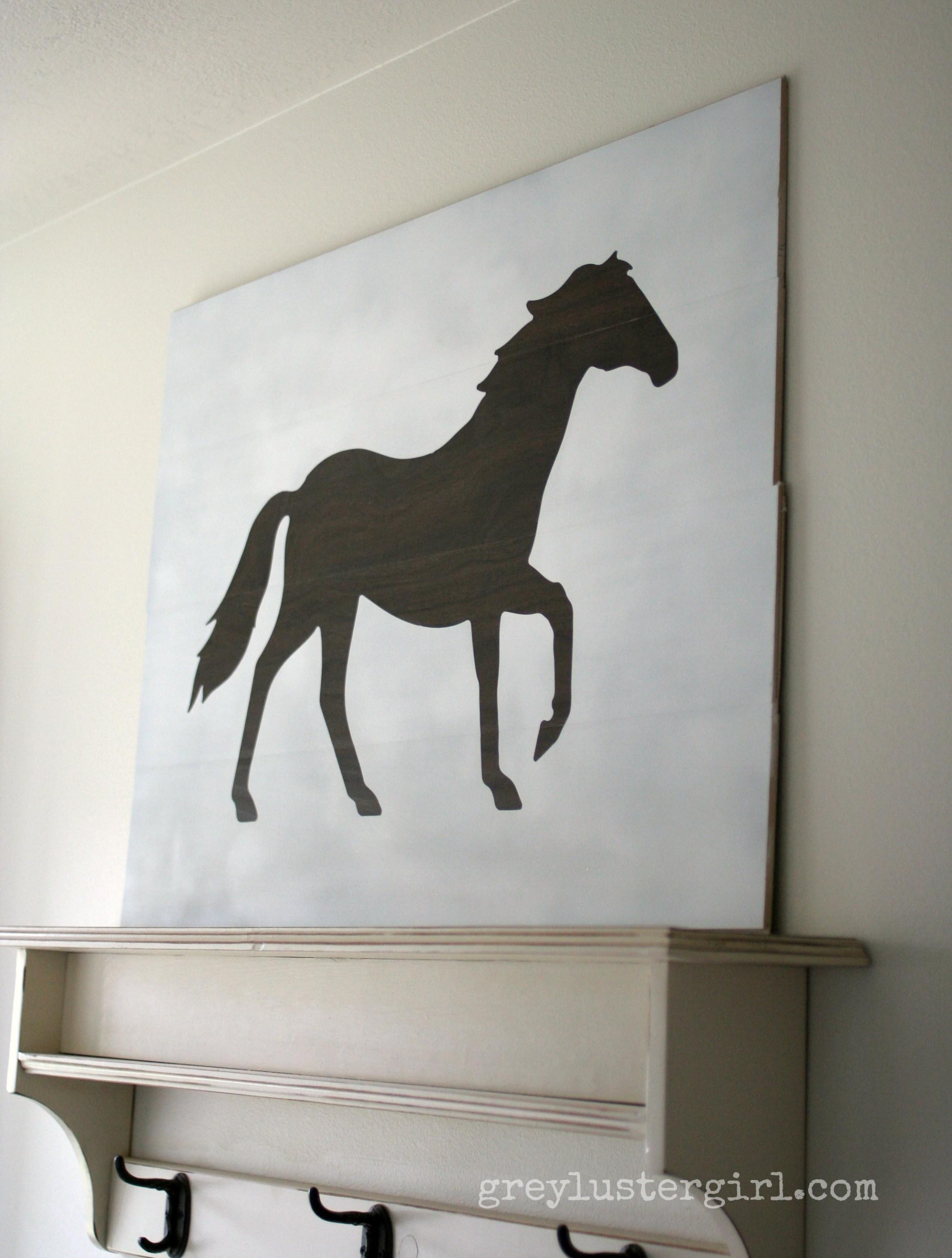 Large Wood Horse Wall Art Silhouette Portrait Giveaway